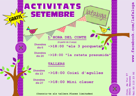 tallers SETEMBRE